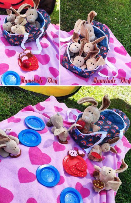 Puppentragetasche nähen Snugglebag von farbenmix
