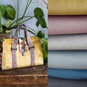 Velours Taschenstoff farbenmix Doktortasche Stoffe zum Taschen nähen