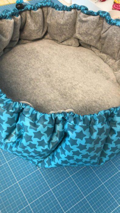 Staaars beschichtete Baumwolle Hundekörbchen
