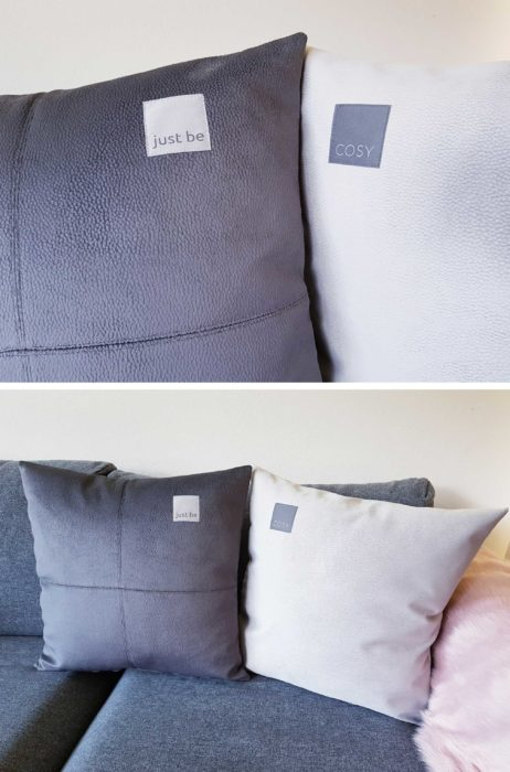 Label It cosy Kissen farbenmix Etiketten Nählabels