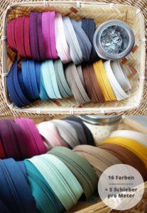 Endlosreißverschlüsse in vielen Farben kaufen farbenmix