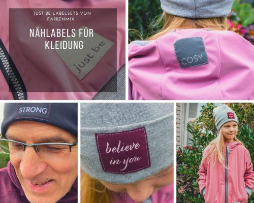 Just Be Labelsets von farbenmix Labels für Kleidung