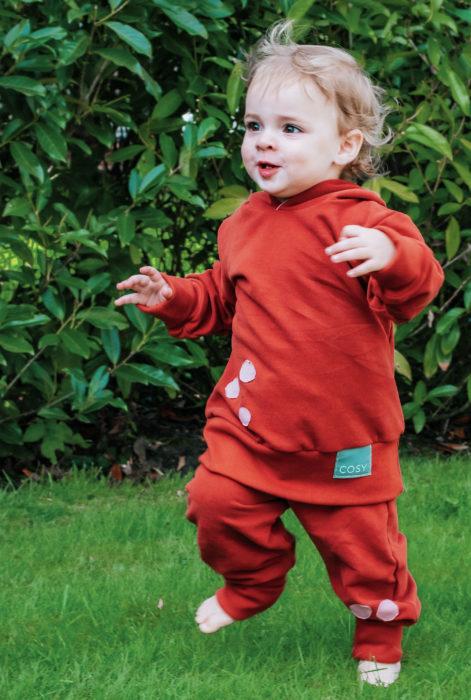 Cosy Label auf Wohlfühlkleidung auch für Kinderklamotten farbemix Nählabels für Kleidung