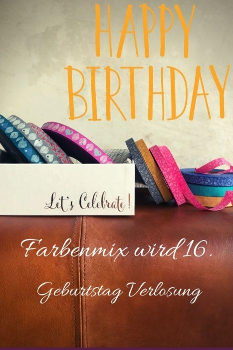 Verlosung 16. Geburtstag Farbenmix