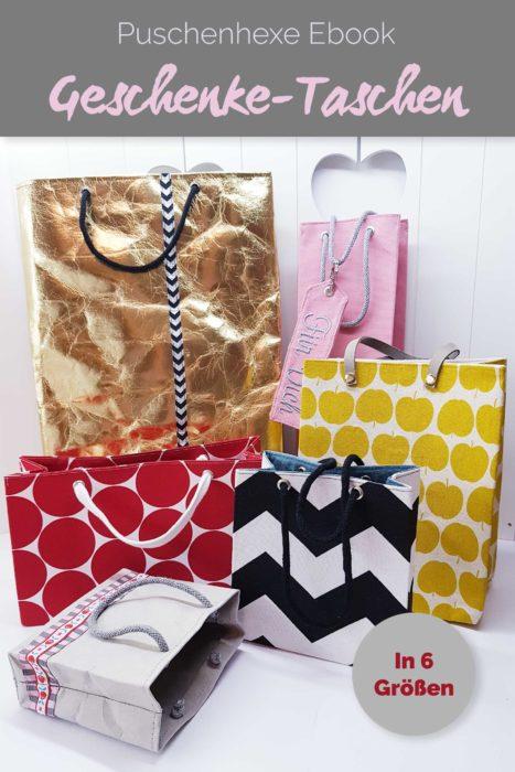 Puschenhexe neues Ebook Geschenktaschen selber nähen - jetzt bei farbenmix