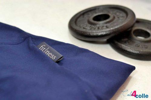 fitness 3er Label Etiketten zum Aufnähen farbenmix