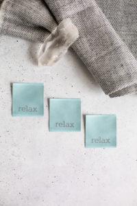 Relax Nählabel Just Be Labelset von farbenmix