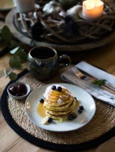 Schnelle und einfache amerikanische Pancakes
