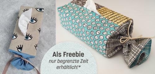 Tulla Hülle für eine Taschentuchbox Ebook Freebook Schnittmuster erhältlich bei farbenmix