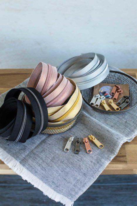 Endlosreißverschluss für Taschen farbenmix