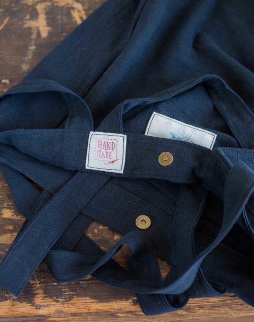 Köperband Tasche Leinen und Magnetverschluss