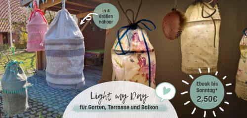 Light my day ein Ebook von farbenmix für eine Außenbeleuchtungslampenhülle