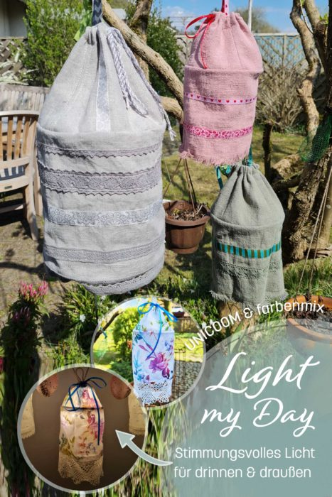 Light my day Schnittmuster Ebook Lampion Außenlampe