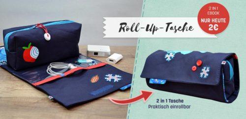 Roll-Up Tasche farbenmix gehört in den Urlaubskoffer wie Valeska