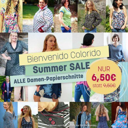 Summer Sale Bienvenido Colorido Papierschnittmuster