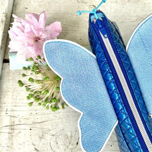 Mäppchen Fallala mit Schmetterlingsflügel von Farbenmix