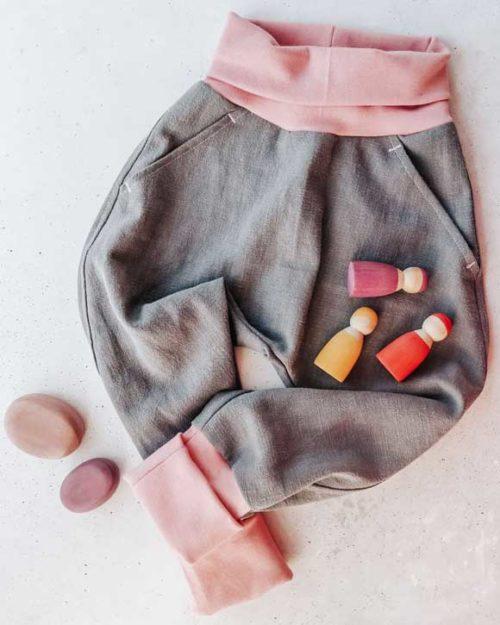 Leinen vorgewaschen farbenmix