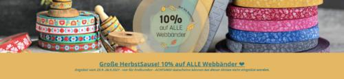 Webbandraritäten jetzt 10% günstiger nur für kurze Zeit