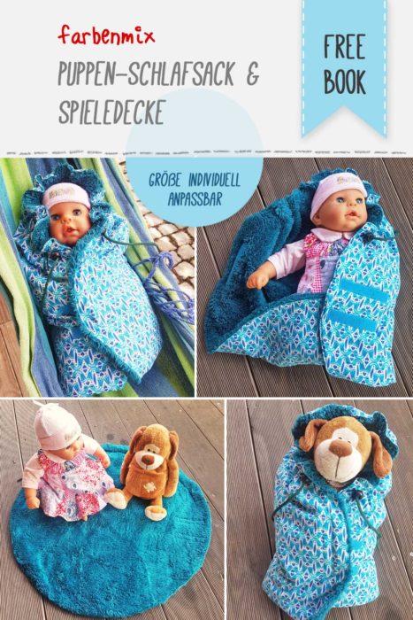 Puppen Schlafsack nähen Geschenkewoche farbenmix Kinderzeit